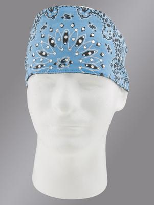 Chop Top Paisley Light Blue with Rhinestones Doo Wrap