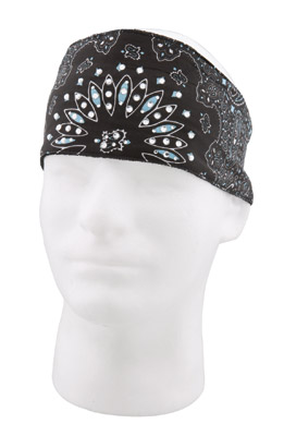 Chop Top Reversed Paisley Light Blue with Rhinestones Doo Wrap