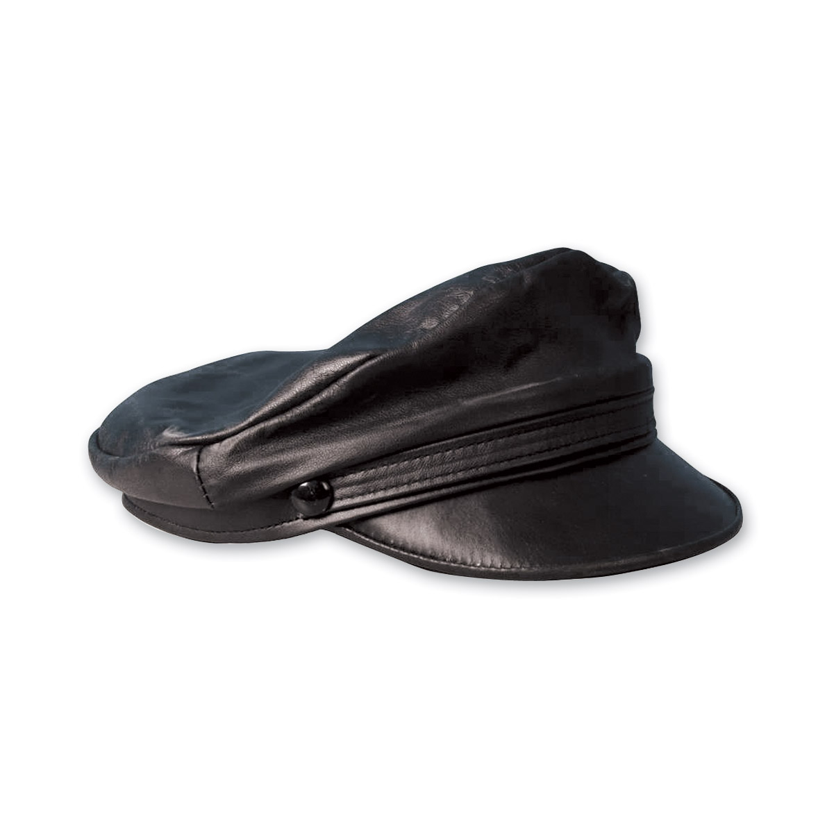 GoodSports Brando Leather Flat Top Cap