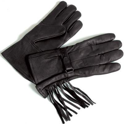 J&P Cycles® Gauntlet Style Fringed Gloves