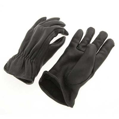 J&P Cycles Fleece Lined Deerskin Riding Gloves