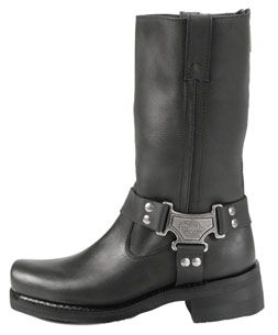 Milwaukee Motorcycle Clothing Co. Men's Classic Harness Black Leather Boot