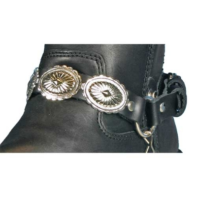Hot Leathers Concho Leather Boot Chains