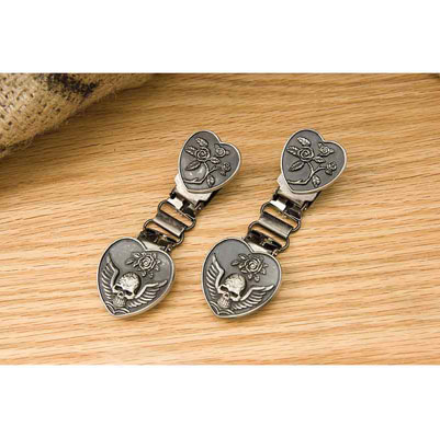 Ryder Clips Heart/Skull Laced  Front Clips