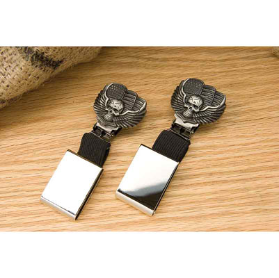 Ryder Clips Skull/Wings Strap Front Clips