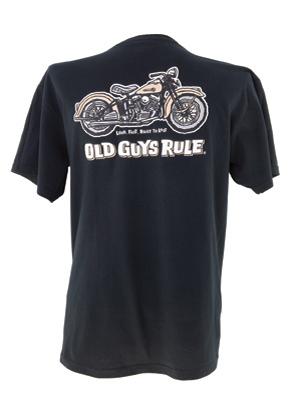 Old Guys Rule Panhead Pocket T-shirt