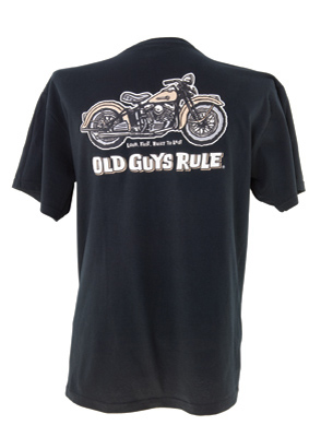Old Guys Rule Panhead Pocket T-shirt
