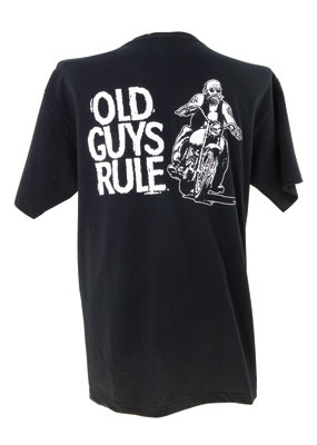Old Guys Rule Biker Guy T-shirt
