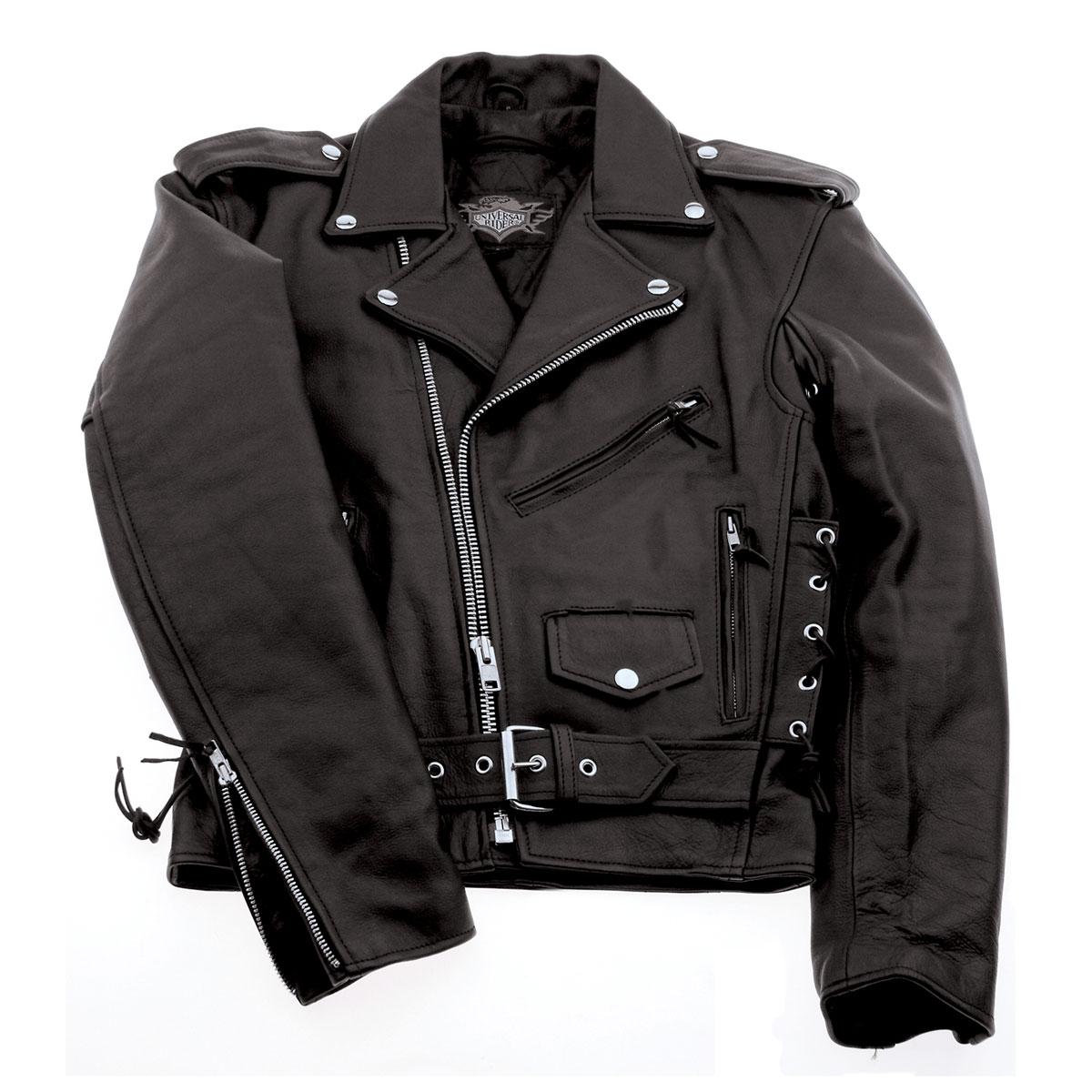 Interstate Leather Men's Ryder Black Leather Jacket