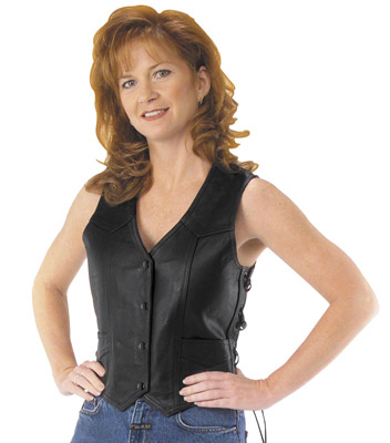 River Road Women's Plain Essential Leather Vest