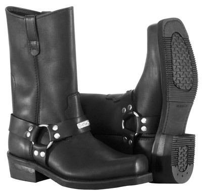 River Road Men's Traditional Square Toe Harness Boots