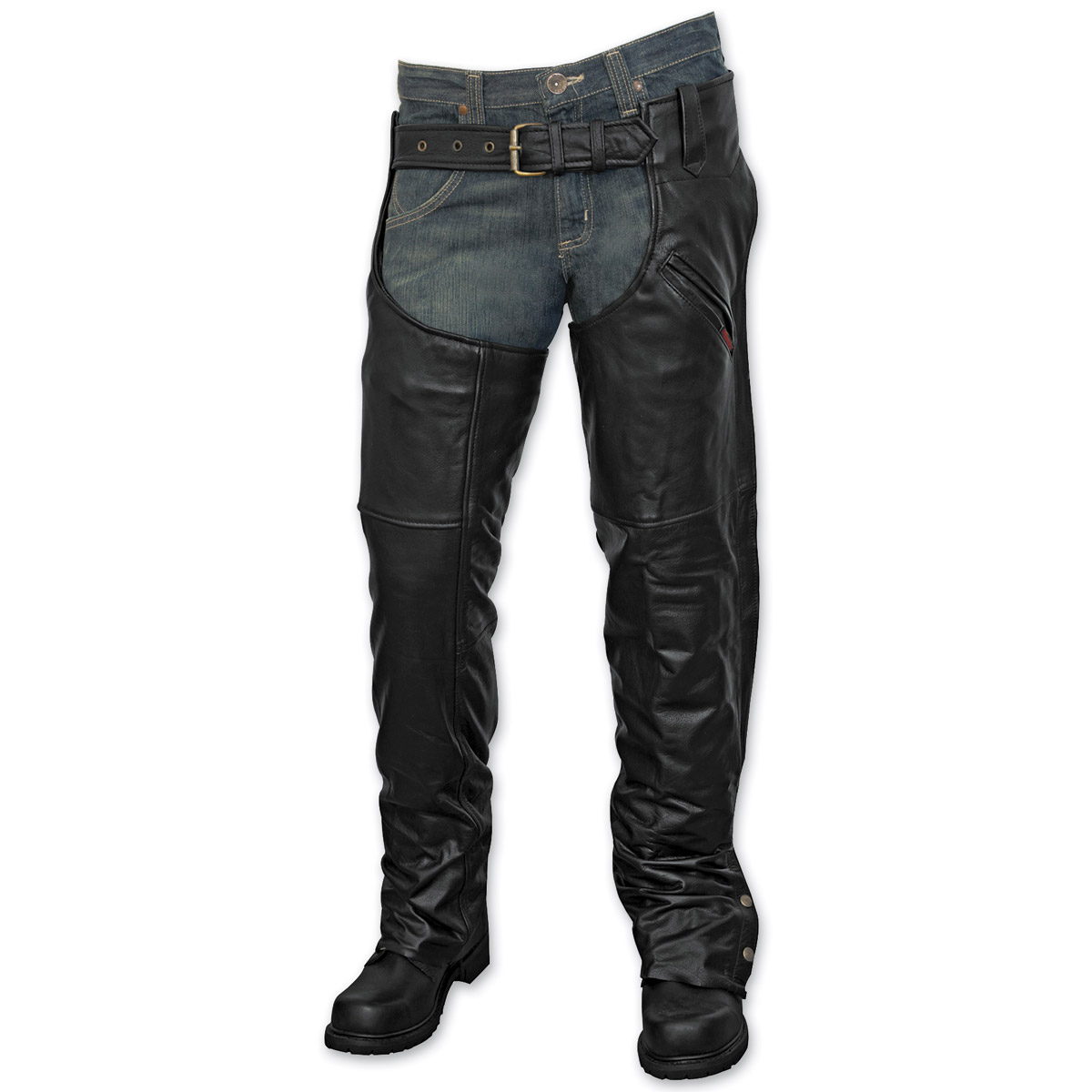 Milwaukee Motorcycle Clothing Co. Unisex Knight Black Leather Chaps