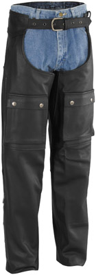River Road Men's Moto Leather Chaps