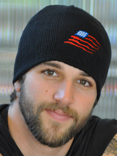 That's A Wrap American Flag Embroidered Beanie