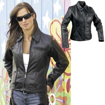 Milwaukee Motorcycle Clothing Co. Women's Electra Black Leather Jacket