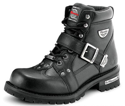 Milwaukee Motorcycle Clothing Co. Women's Road Captain Black Leather Boots