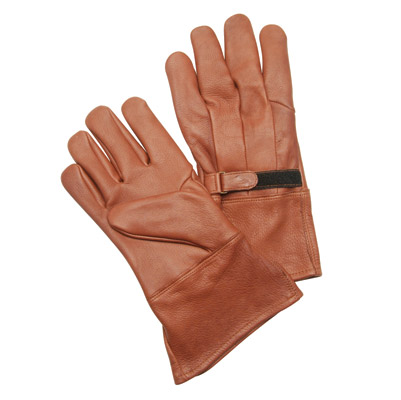 J&P Cycles® Brown Gauntlet-style Gloves