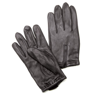J&P Cycles® Lined Deerskin Gloves with Zipper Back