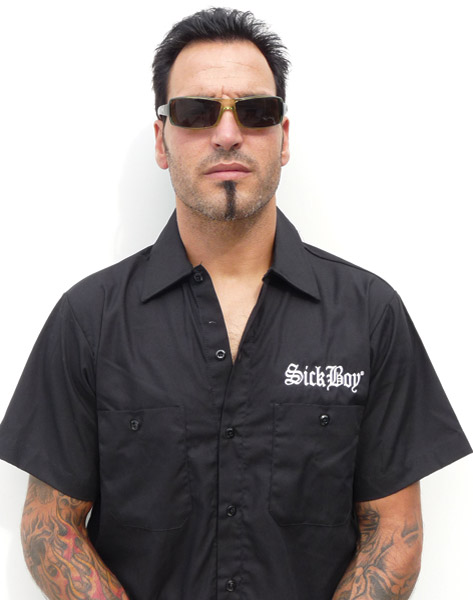 Sick Boy Men's Rocker Black Workshirt