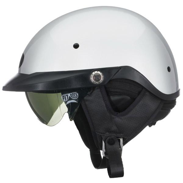 Bell Pit Boss White Half Helmet