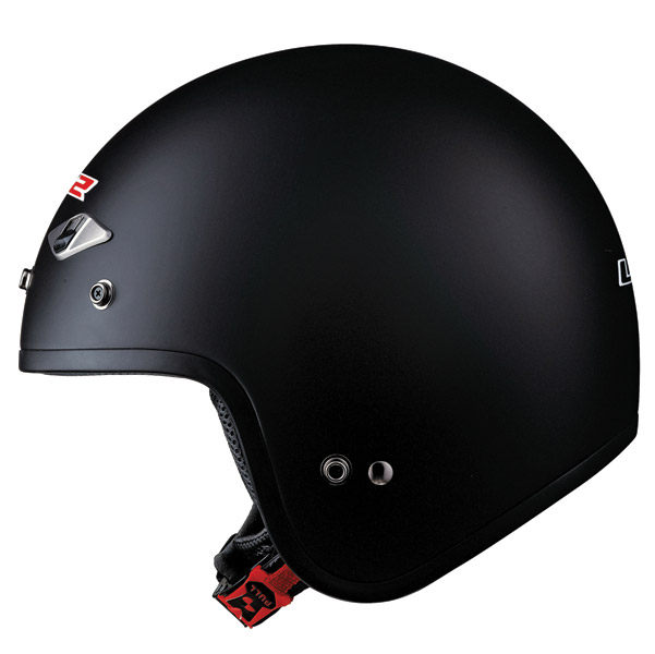 LS2 OF567 Matte Black Open Face Helmet