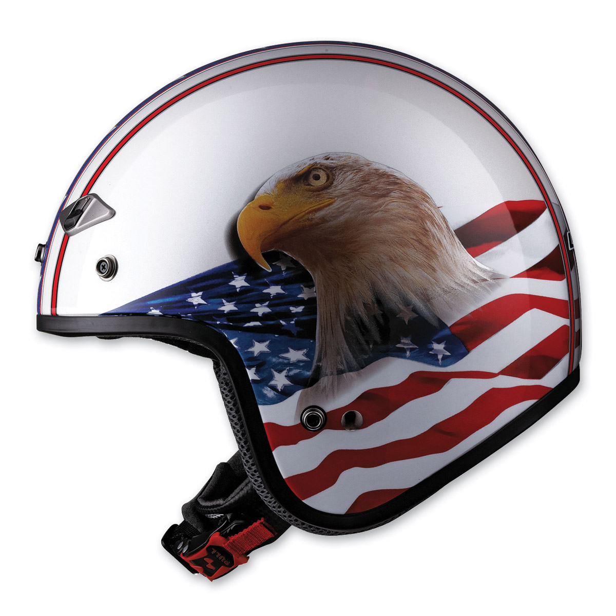 LS2 OF567 Eagle White Open Face Helmet
