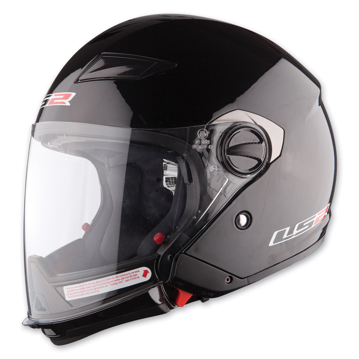 LS2 OF569 Scape Black Open Face Helmet
