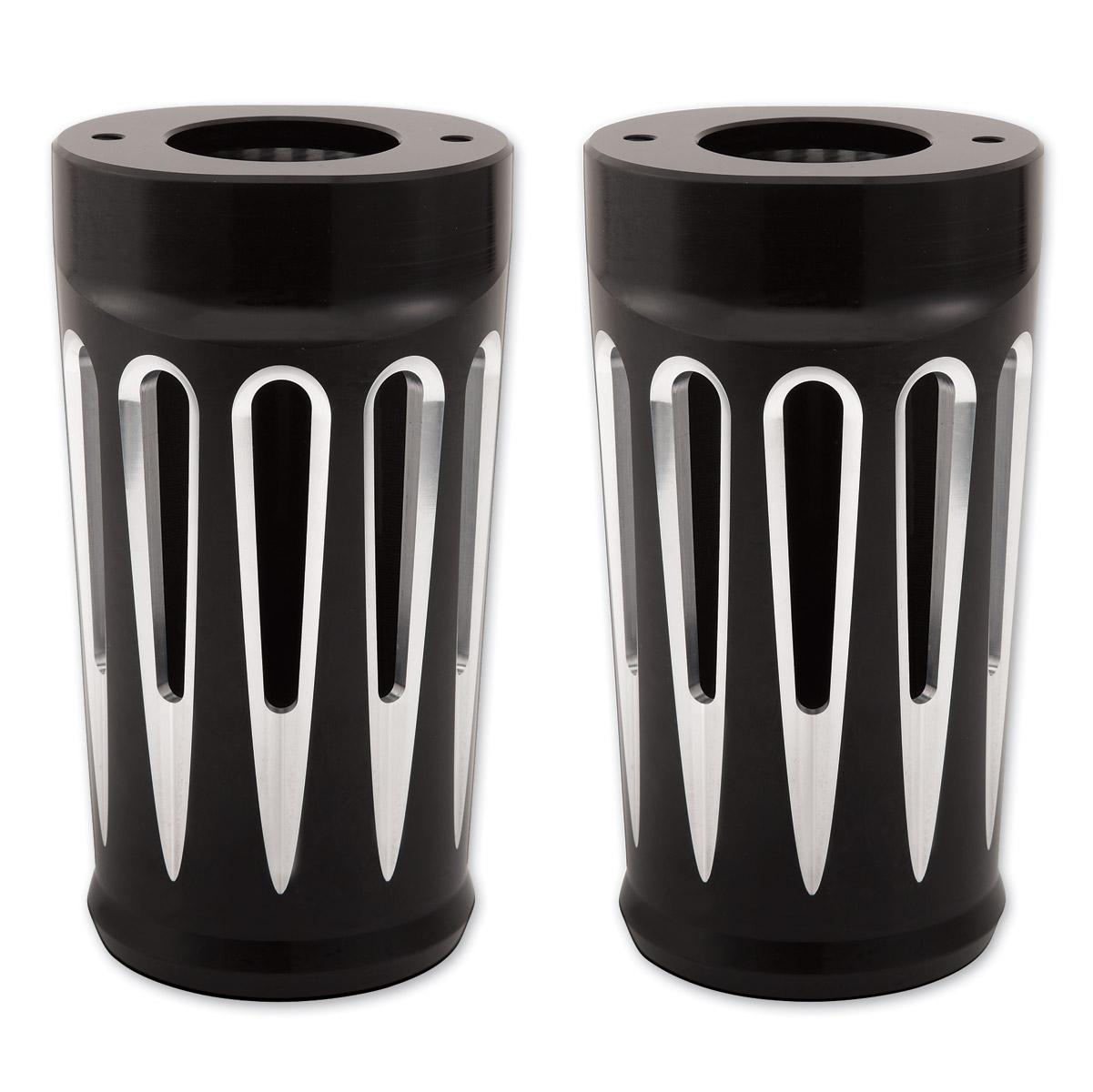 Arlen Ness Deep Cut Black Fork Boot Covers