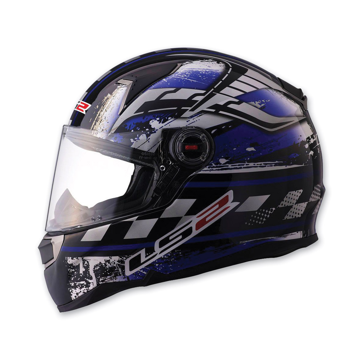 LS2 FF396 CR1 Impact Blue Full Face Helmet