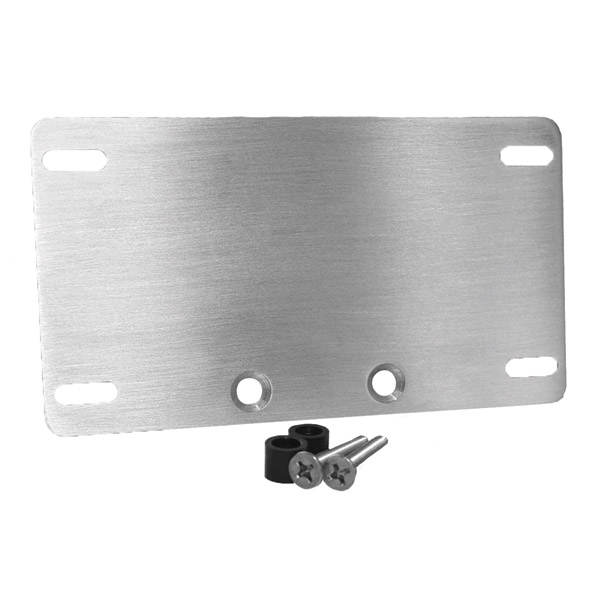 Whitewall Choppers Brushed License Plate Mount