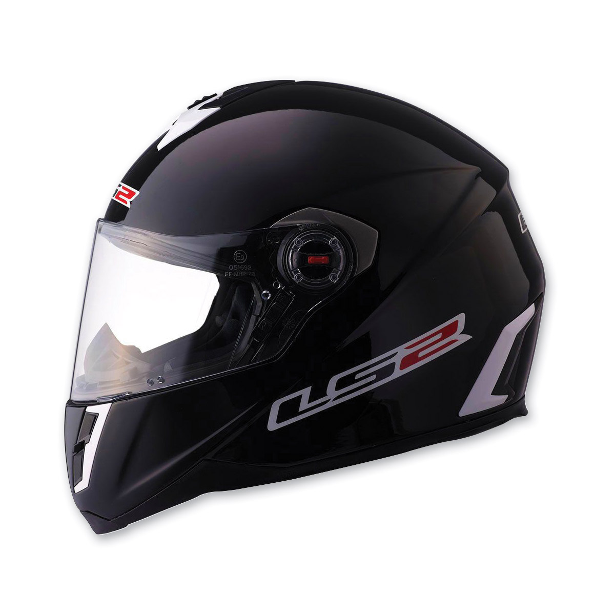 LS2 FF387 Solid Black Full Face Helmet