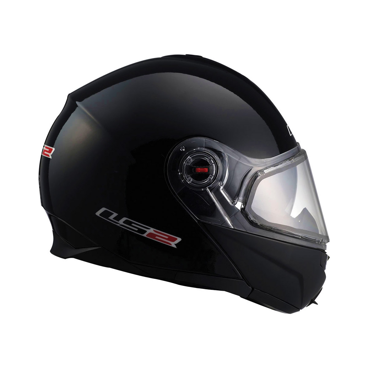 LS2 FF386 Electric Black Modular Helmet