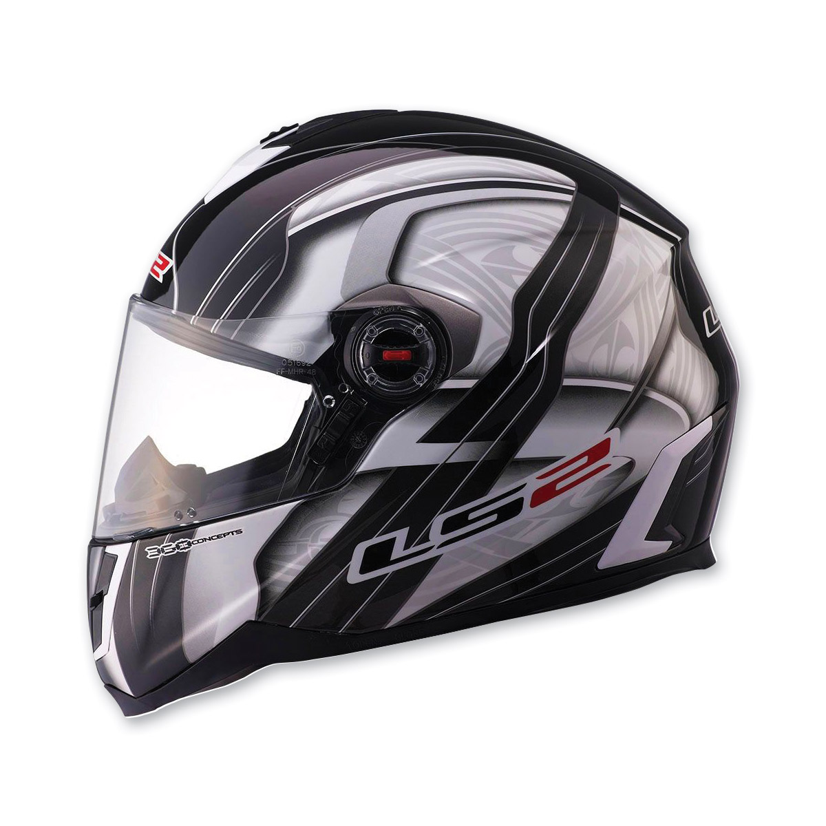 LS2 FF387 Split Black Full Face Helmet