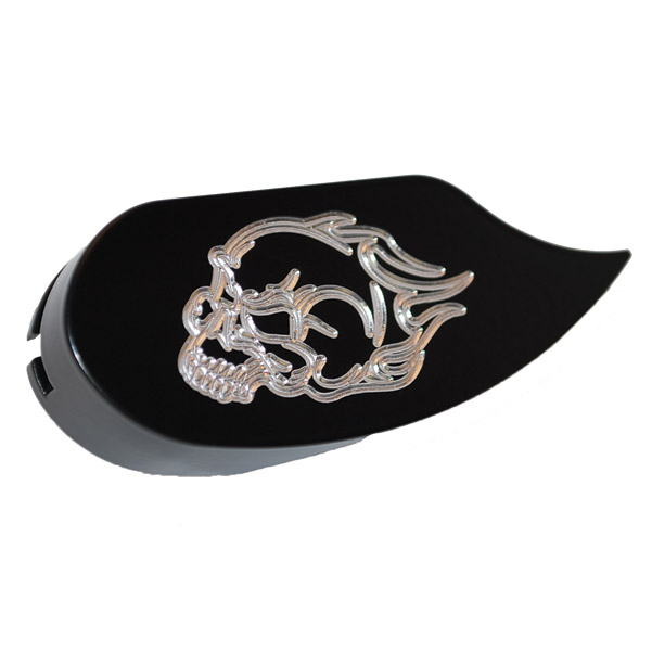 Whitewall Choppers Flaming Skull Smooth Shift