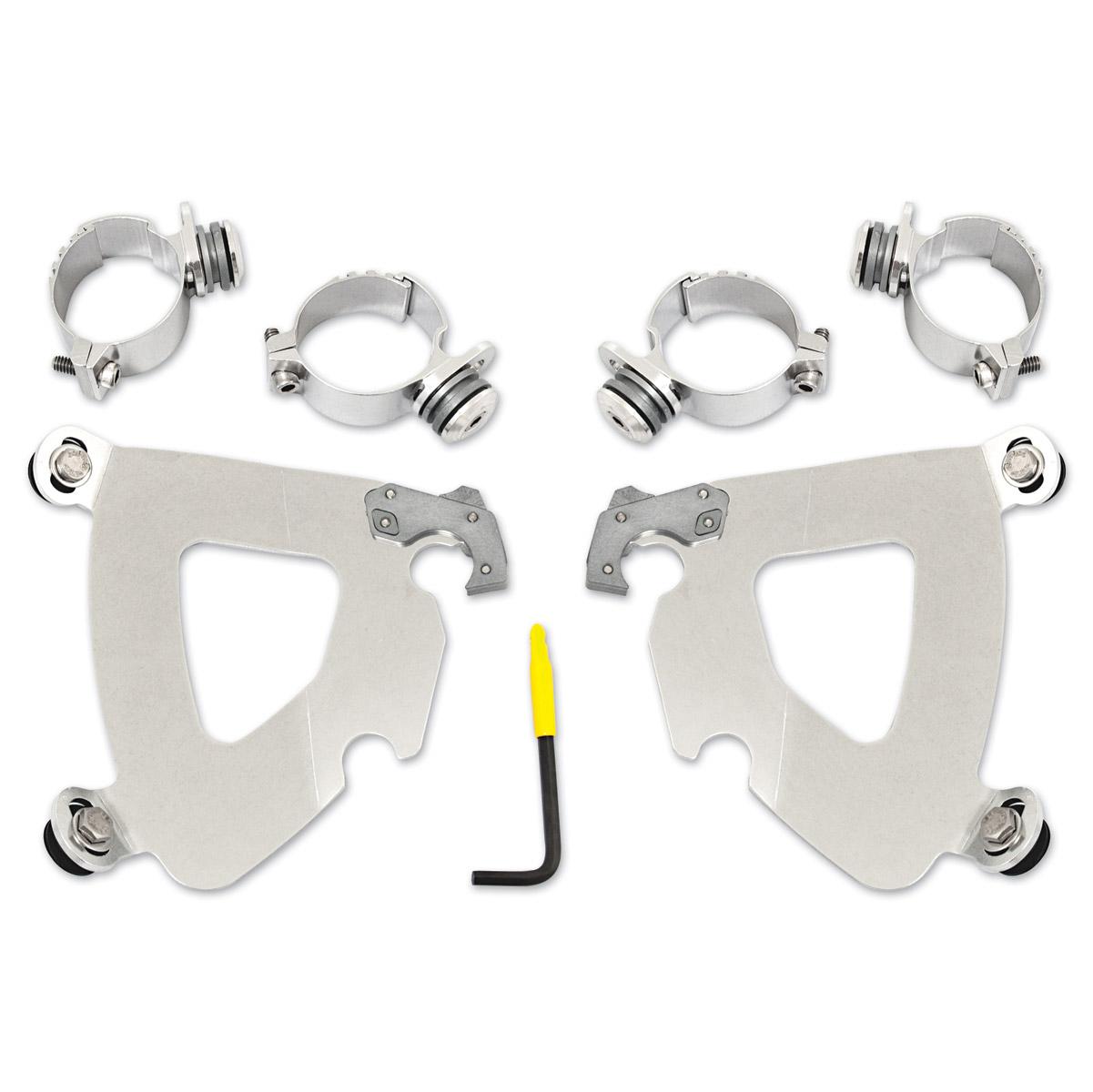 Memphis Shades Gauntlet Fairing Polished Trigger Lock Mount Kit
