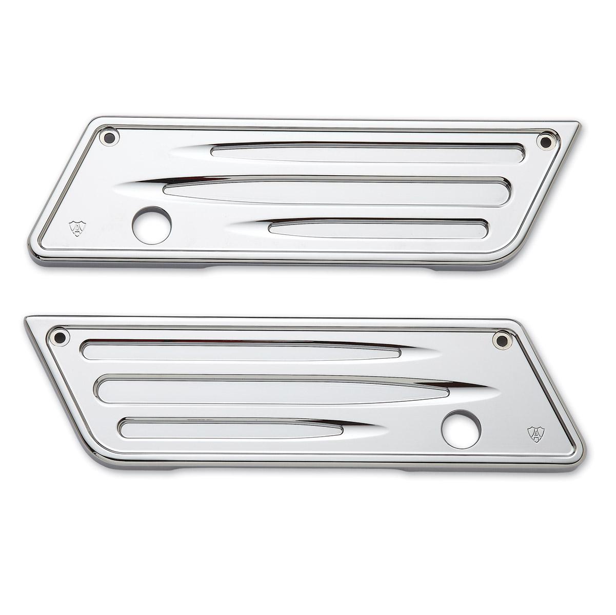 Arlen Ness Deep Cut Chrome Saddlebag Latch Covers
