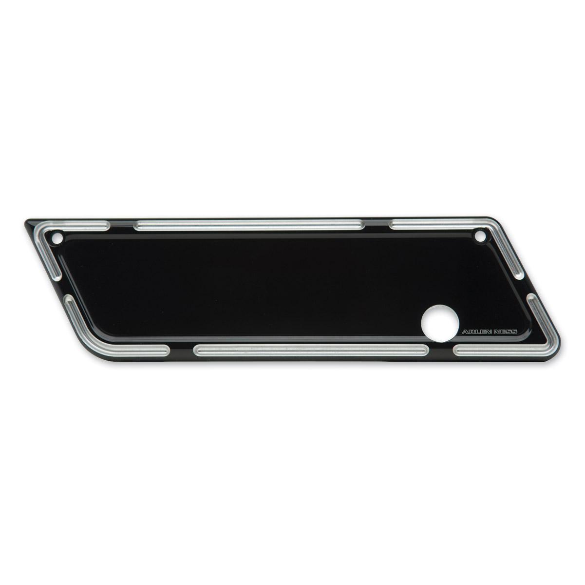 Arlen Ness Slot Track Black Saddlebag Latch Cover