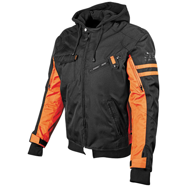 Speed and Strength Off the Chain Men's Black/Orange Textile Jacket