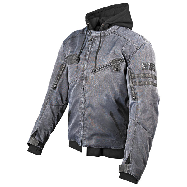 Speed and Strength Off the Chain Men's Vintage Black Textile Jacket