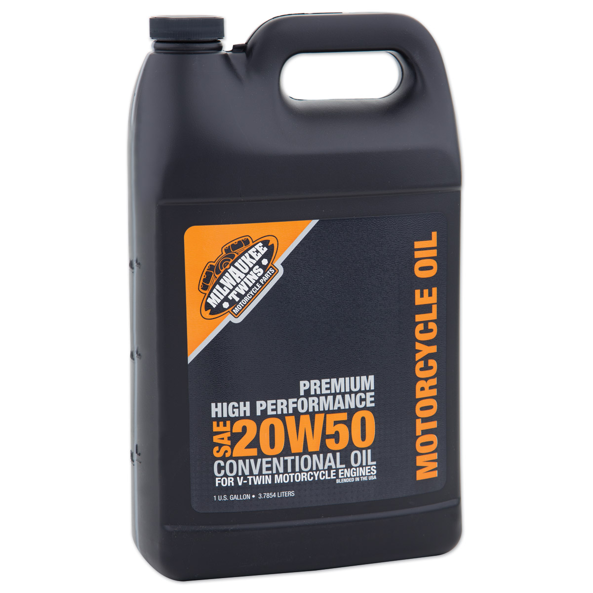 Milwaukee twins 20w50 engine oil gallon 127 117 j p cycles for Gallon of motor oil