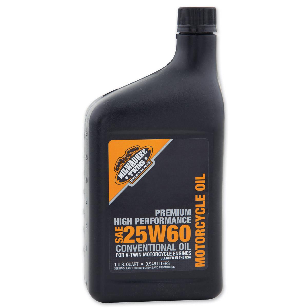 Milwaukee Twins 25W60 Engine Oil Quart