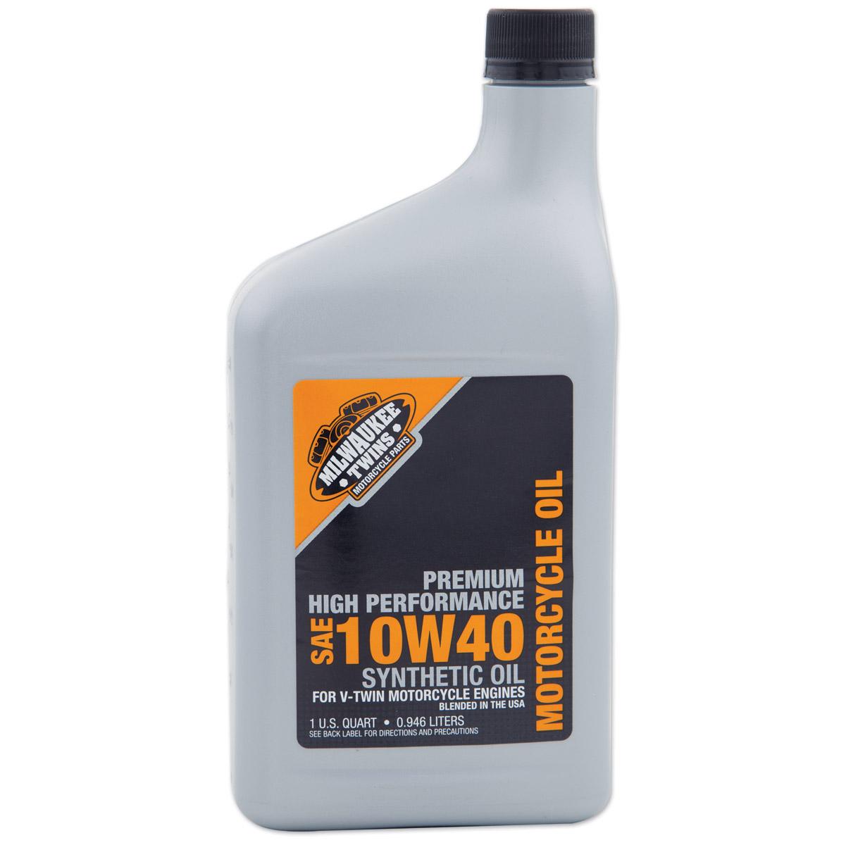 Milwaukee Twins Synthetic 10W40 Engine Oil Quart