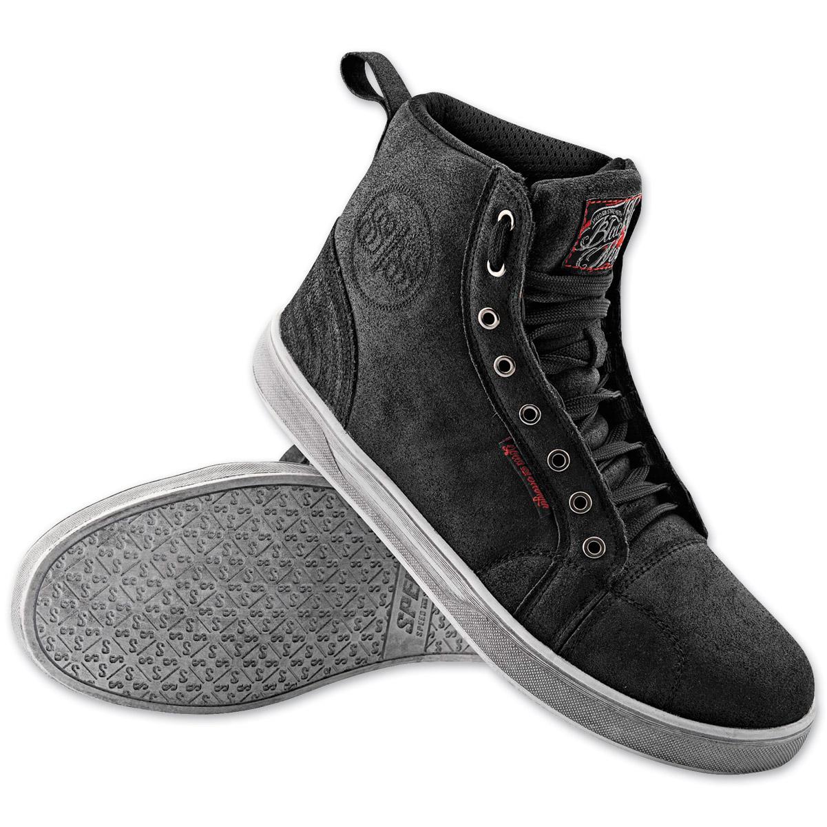 Speed and Strength Men's Black Nine Moto Black Shoe