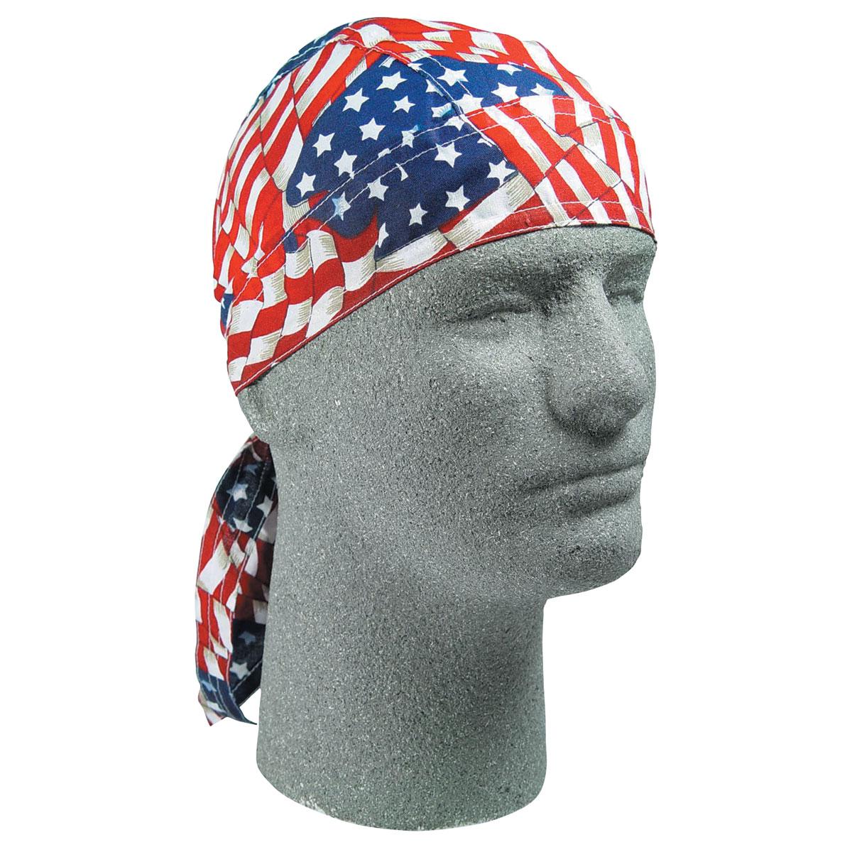 ZAN headgear Wavy American Flag  Flydanna Head Wrap