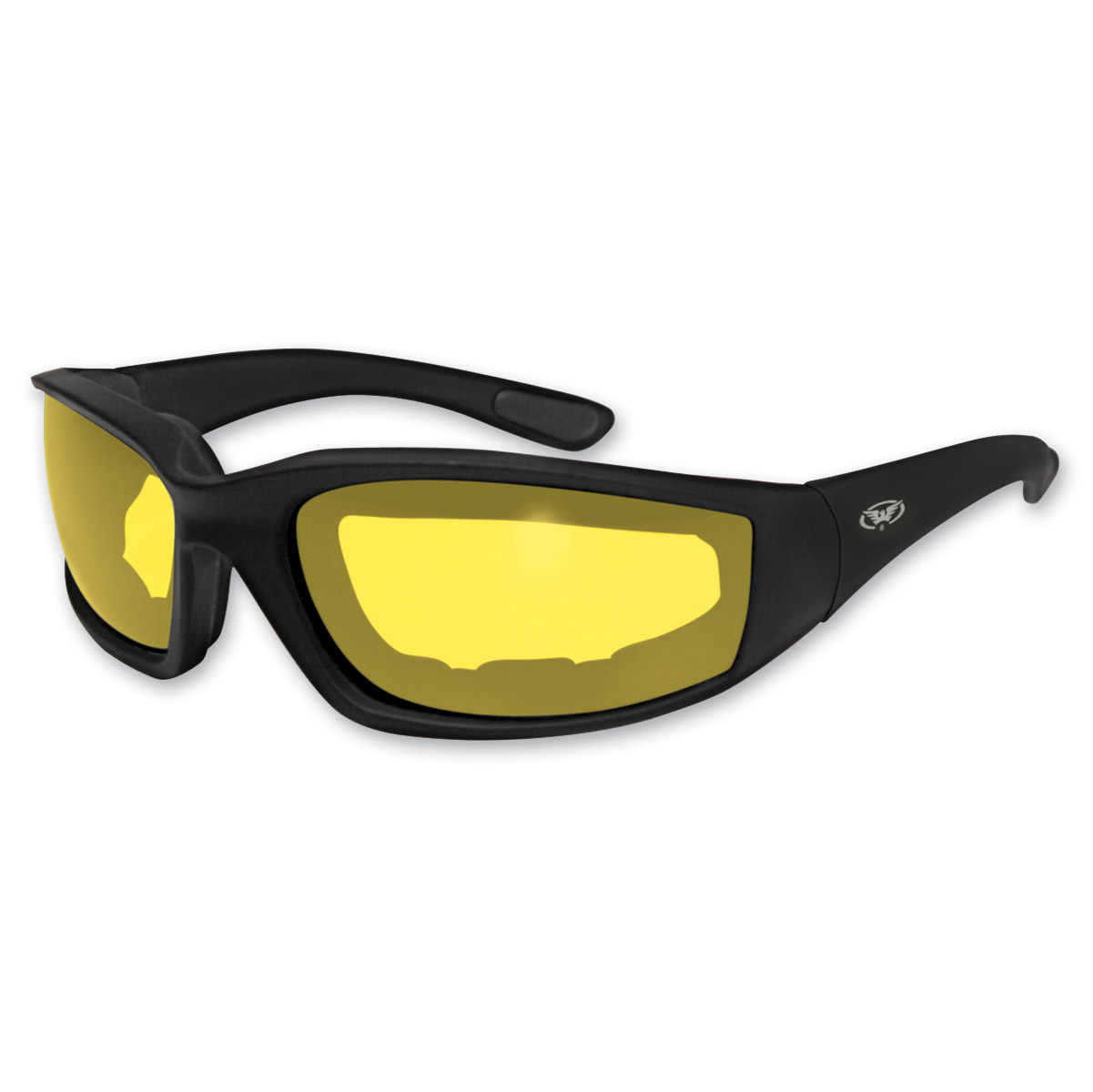 Global Vision Eyewear Kickback Padded Sunglasses with Yellow Lens
