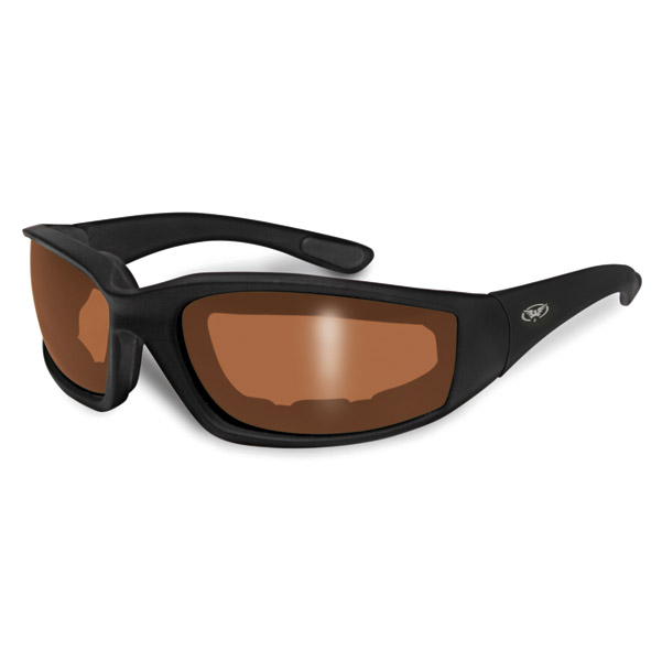 Global Vision Eyewear Kickback Padded Sunglasses with Driving Mirror Lens
