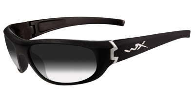 Wiley X Brick Goggles/Sunglasses with Gloss Black Frames and LA Light Adjusting Smoke Grey Lenses