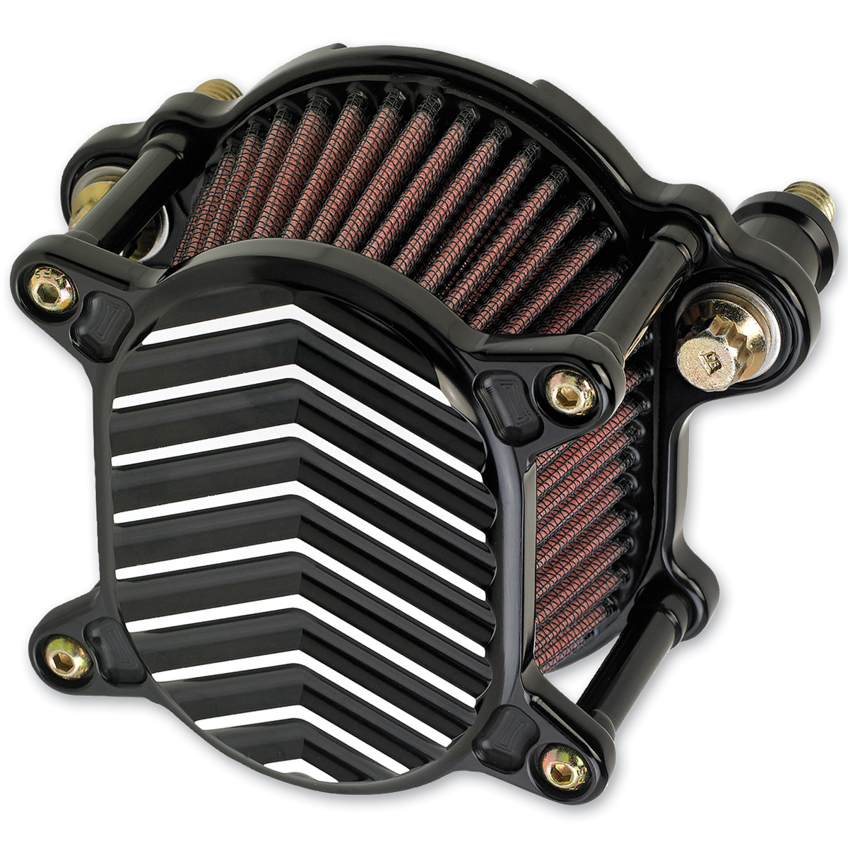 Joker Machine Omega Air Cleaner V Fin Black Chrome