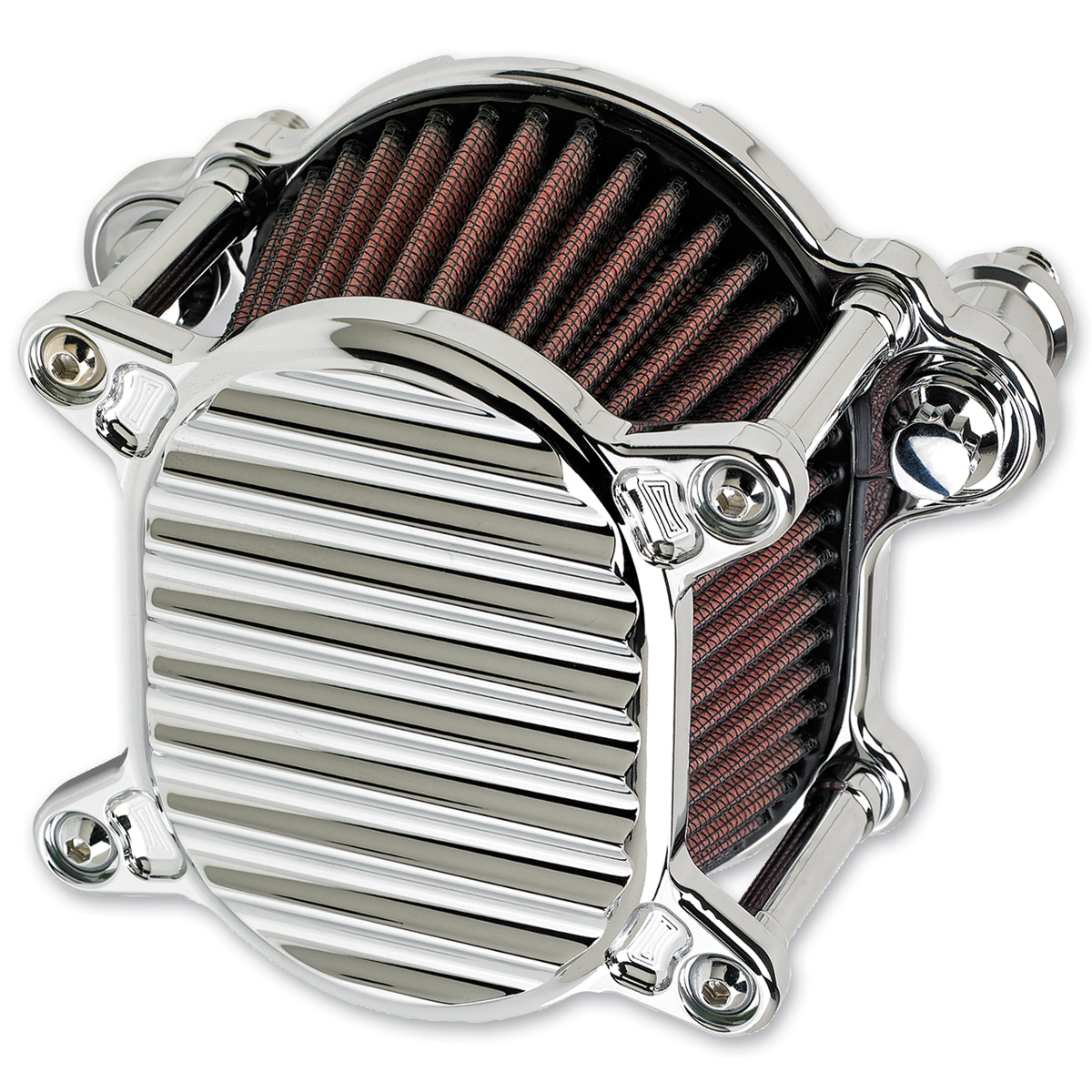 Joker Machine Omega Air Cleaner Finned Chrome