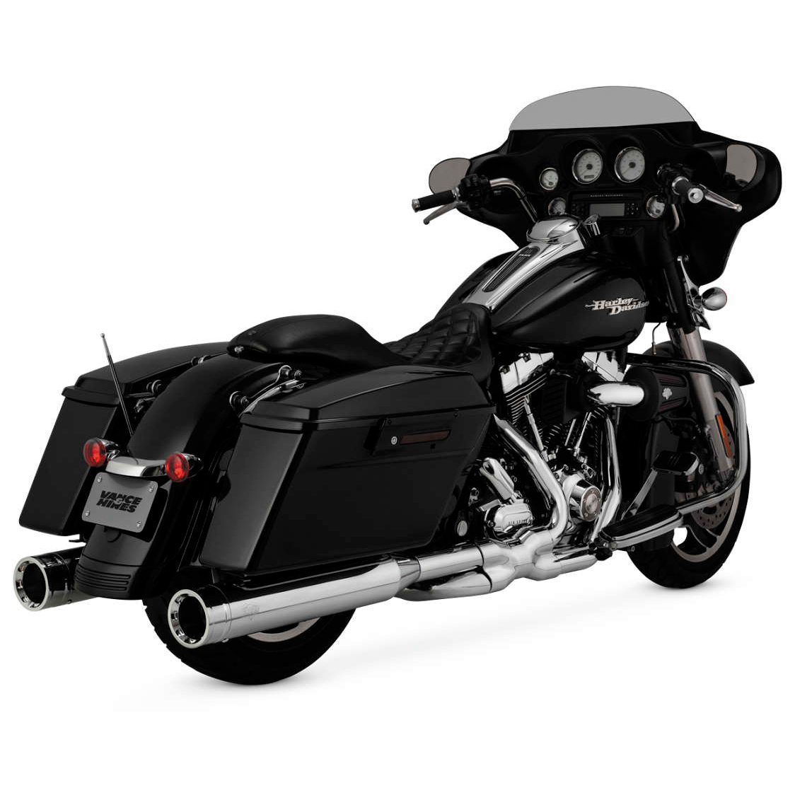 Vance & Hines Power Duals CTR Exhaust System Chrome